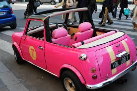 mini cooper convertible pink. pink austin mini cooper convertible by ericok g