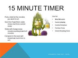 Set Timer For 15 15 Minute Timer Pick A Slide For The Minutes You Want To Set Start