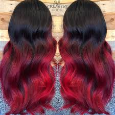 Black To Red Ombre Created By