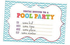 It's been a while since we've shared some of our party in a pocket series, and we thought this was the perfect timing to share some fun free pool party printables! Free Printable Birthday Pool Party Invitation Templates
