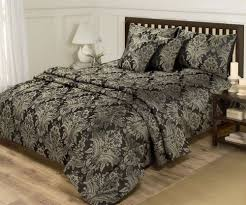 Superking Duvet Set Cushion Covers Throw Set 6 Piece Black