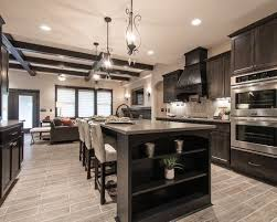 Dark Kitchen Cabinets Interesting 48 Cool Kitchen Designs With Gray Floors Kitchens Pinterest