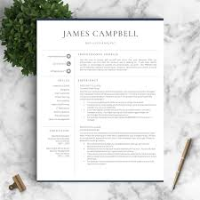Resume Template Professional Resume Template For Word