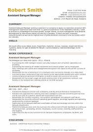 Banquet Program Examples Assistant Banquet Manager Resume Samples Qwikresume