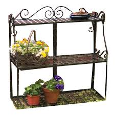 tiered iron plant stand. Panacea Forged Metal Plant Stand In Tiered Iron