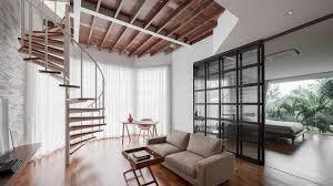 new design living room furniture. Spiral Staircase Elevates Minimalist Duplex In Thailand New Design Living Room Furniture A