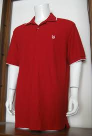 details about xl men chaps short sleeve polo shirt red white stripe 100 cotton euc