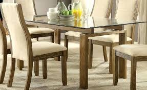 glass oak dining table oak rectangular glass top dining table solid oak round glass dining table