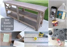 Diy Rustic Frame Diy Rustic X Base Console Table The Chronicles Of Home Frame