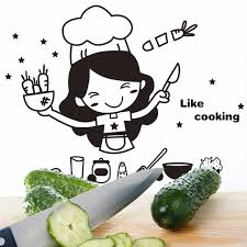 cute cooking wallpaper. Exellent Cute Happy Kitchen Girl Like Cooking Wall Sticker Cute Art Home Decal Decor  Tile On Wallpaper L