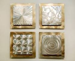 Small Picture Silver Gold Modern Metal Wall Sculpture Contemporary Metal