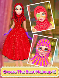 hijab wedding salon makeover makeup s game 4