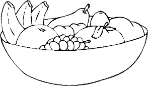 Fruits Coloring Pages Domlinkovinfo