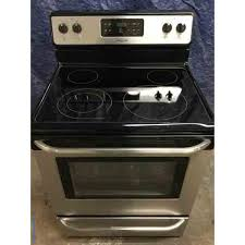 fantastic frigidaire self cleaning stainless stove glass top clean and working