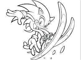 Sonic The Werehog Coloring Pages Printable To Print And Tails Shadow