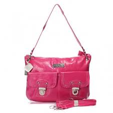 Coach Kristin Lock Medium Fuchsia Shoulder Bags BMK