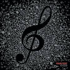 black background design music.  Black Music Note With Black Background Vector For Black Background Design