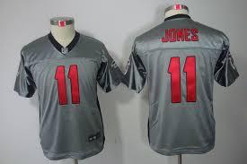 Out Jersey Jersey discount Jersey Jones 11 Football Cheap Jerseys wholesale Lights Grey Youth Falcons Atlanta che Kids