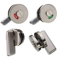 stainless steel bathroom toilet door indicator turn release lock latch bolt