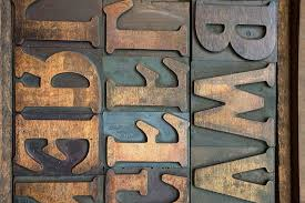 brown bwv text wall decor letters