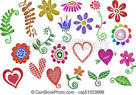 Pictures Of Hearts And Flowers Glitter Hearts Flowers