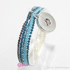 2019 whole new arrival snap jewelry crystal elastic bracelets with interchangeable 18mm on charm bijoux pulsera from jenniferboutique