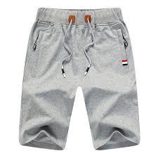 Flat Front JustSun <b>Mens Sports Shorts</b> Casual with <b>Elastic</b> Waist ...