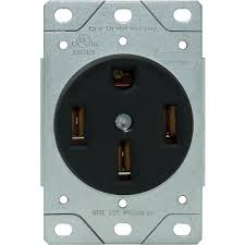 rpp 50a 4 wire range receptacle flush mount power devices 50a 4 wire range receptacle flush mount
