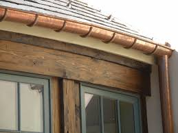 add a dramatic and elegant look to your home with copper gutters