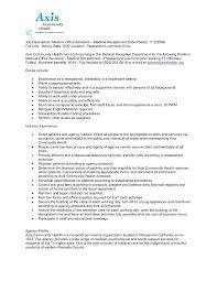 Job Description For Medical Office Assistant Receptionist Duties Extraordinary Office Assistant Duties On Resume