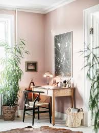 home office workspace. Pink Home Office Workspace With Indoor Plants On Thou Swell @thouswellblog