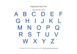 Free Printable Alphabet Charts In 7 Colors Alphabet Chart Net
