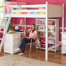 Wooden Loft Beds for Teenagers   Wooden Loft Bed With Desk & Extra Storage  Drawers in
