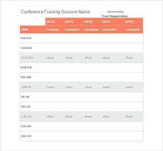Time Table Creator Sample Event Schedule Planner Template Formal Word Templates