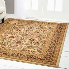 remarkable 5 8 rugs for interior floor decoration traditional beige persian border 5