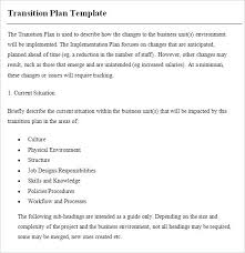 transition plan examples employee transition plan template planning with excel work