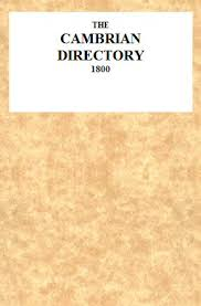 The Cambrian Directory 1800 By Anonymous