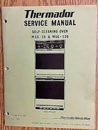 thermador oven cooktop range 1970 s