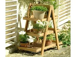 outdoor plant shelves 3 tier plant stands wooden diy outdoor plant shelves