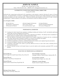 funeral director resume funeral director resume sales executive resume sample job