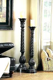 floor pillar candle holders holder on candlesticks wooden