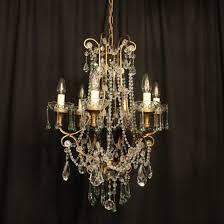 italian floine 6 light antique chandelier