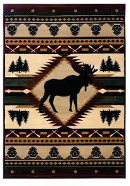 log cabin rugs moose wilderness rustic area rug log cabin decor and western ranch decor discover the lodge