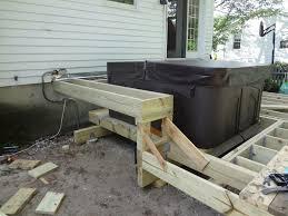 hot tub deck. Deck Hot Tub Support