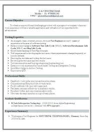 Software Tester Sample Resume Tester Resume Sample Sample Resume For