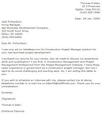 Construction Project Manager Cover Letter Best Photo Gallery For