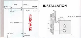 installation diagram of tempered glass sliding door