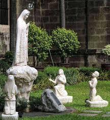 three children garden statue