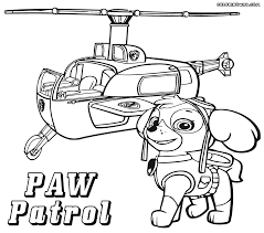 Paw Patrol Color Pages To Print The Color Panda