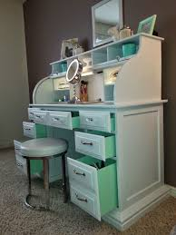 interesting upcycled vanity table with best 25 painted makeup vanity ideas on diy makeup